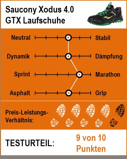 Saucony Xodus 4.0 GTX Testbericht