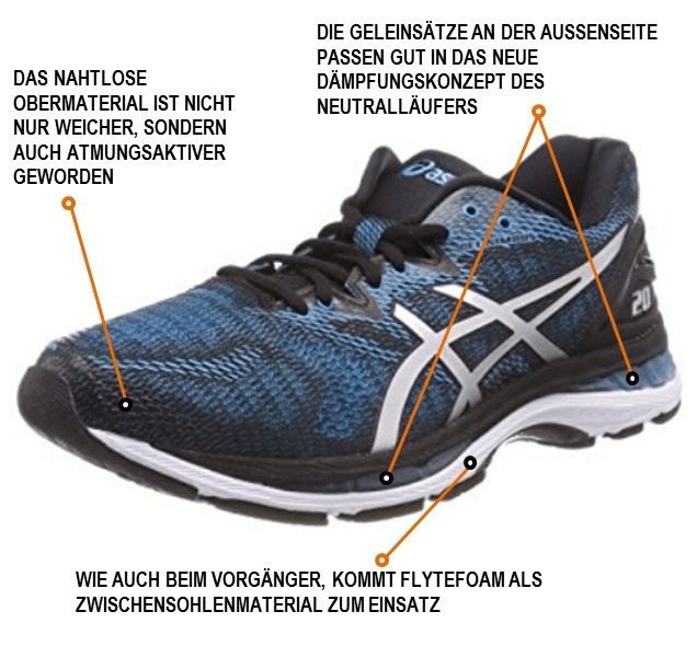 Asics Gel-Nimbus 20 im Test - joggies